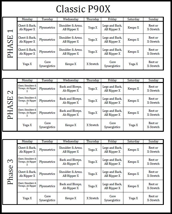 Supreme 90 Day Workout Schedule Pdf   Eoua Blog Within Supreme 90 Day Workout Chart