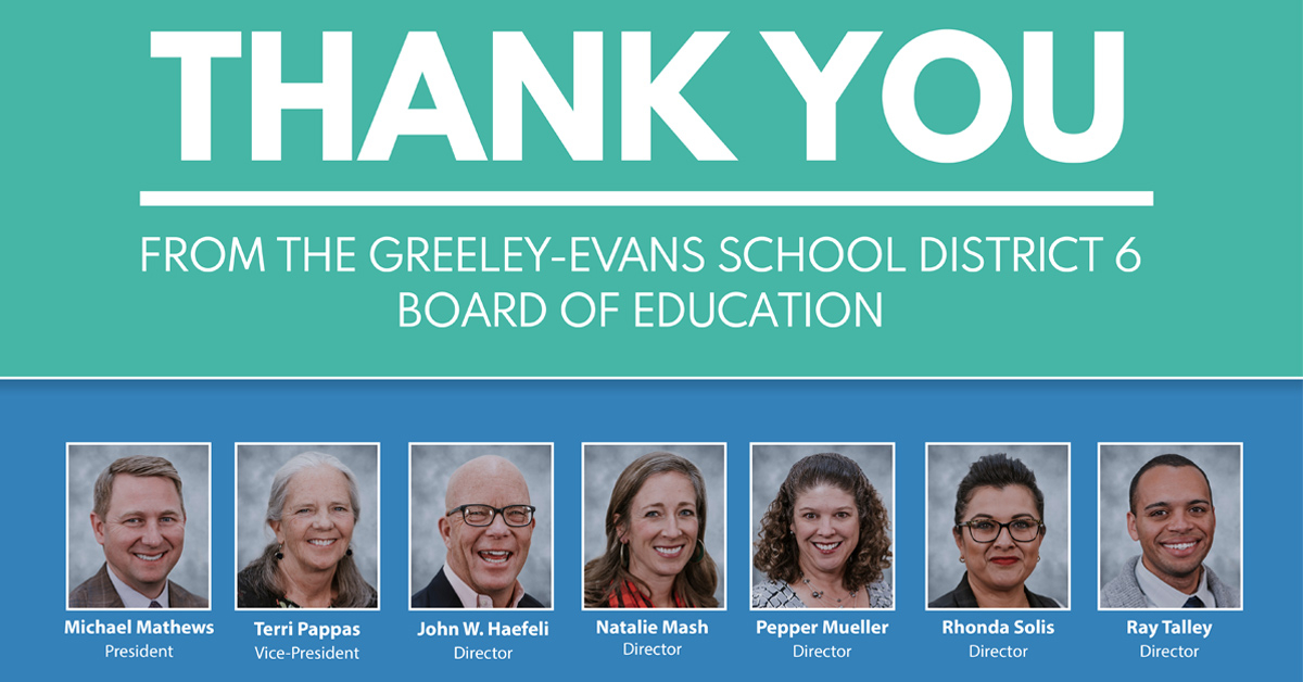 Thank You From The Greeley Evans District 6 Board Of Education With Regard To Jefferson County Colorado 2020 2021 School Calendar