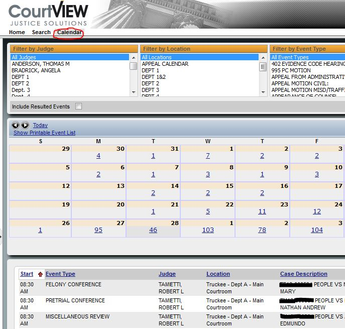 The Superior Court Of California Within Nc Court Calendars District And Superior