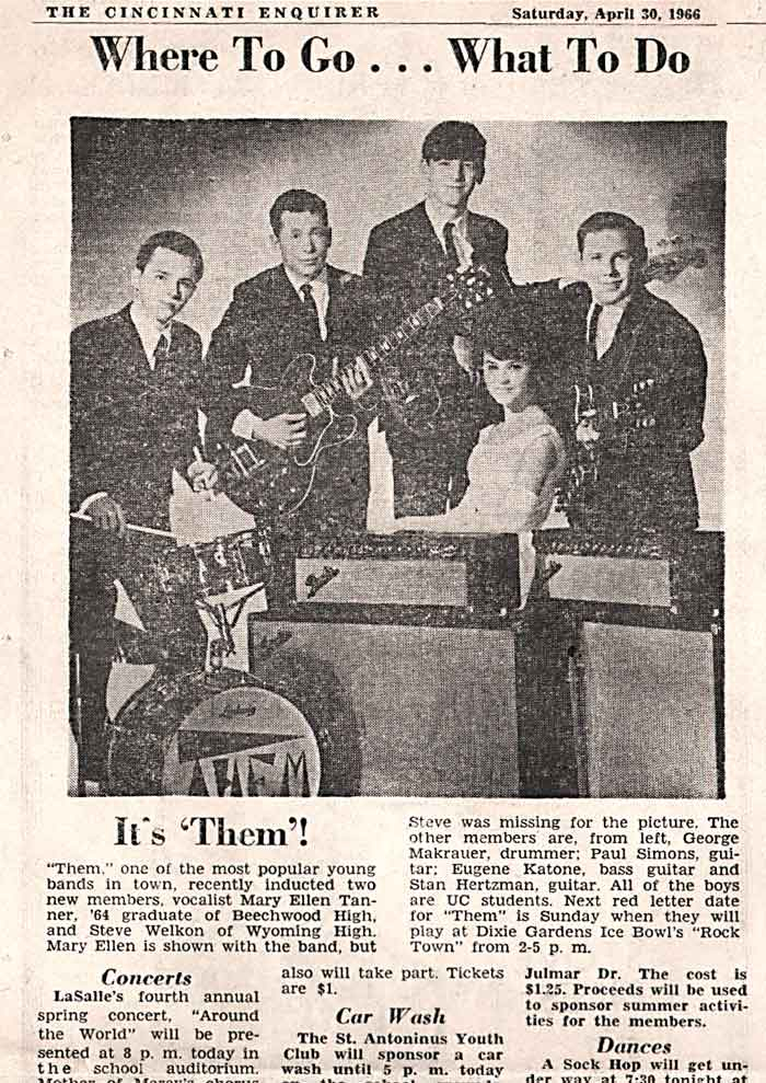"""Them - The Original Torquays - """"The Band That Started in Walnut Hills High School Spring Break"""