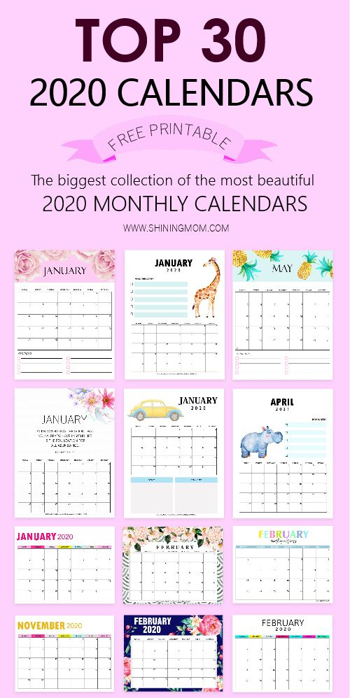 Top 30 Printable Calendars 2020 To Download For Free Regarding Example Year Round School Schedule