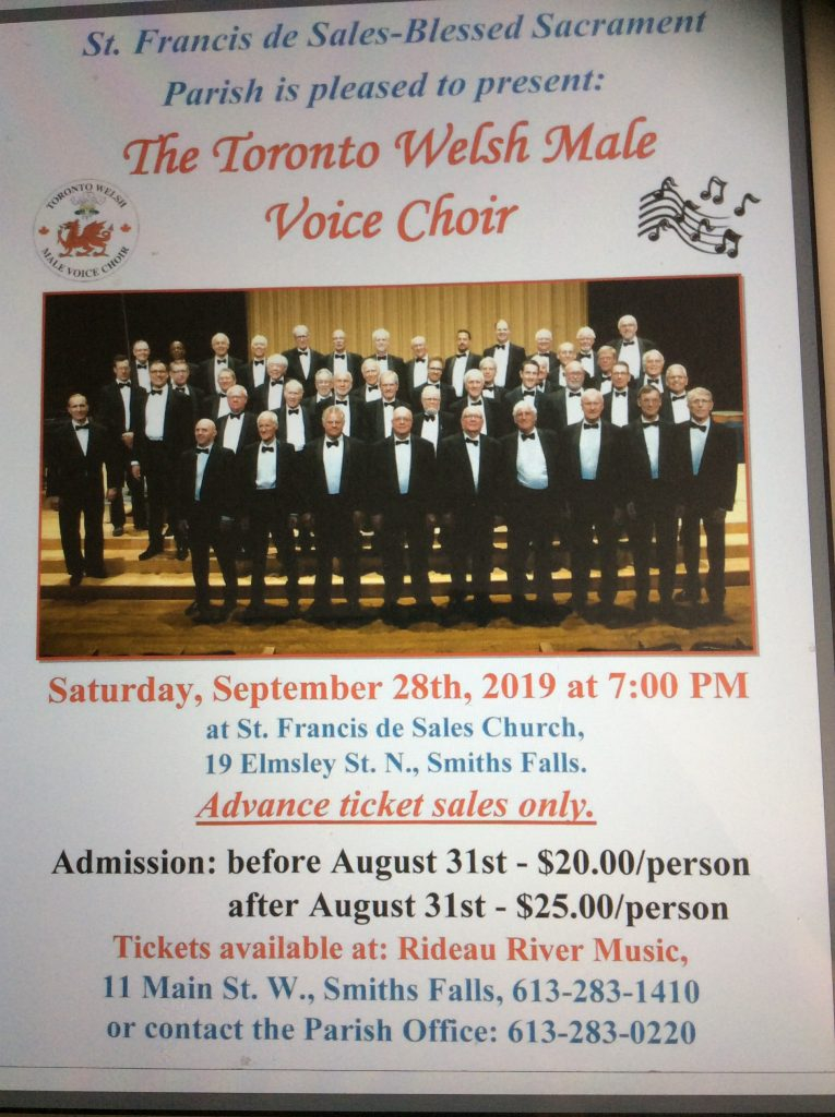 Toronto Welsh Male Voice Choir Presentedst. Francis De Throughout College Of Lake County Calendar 2021