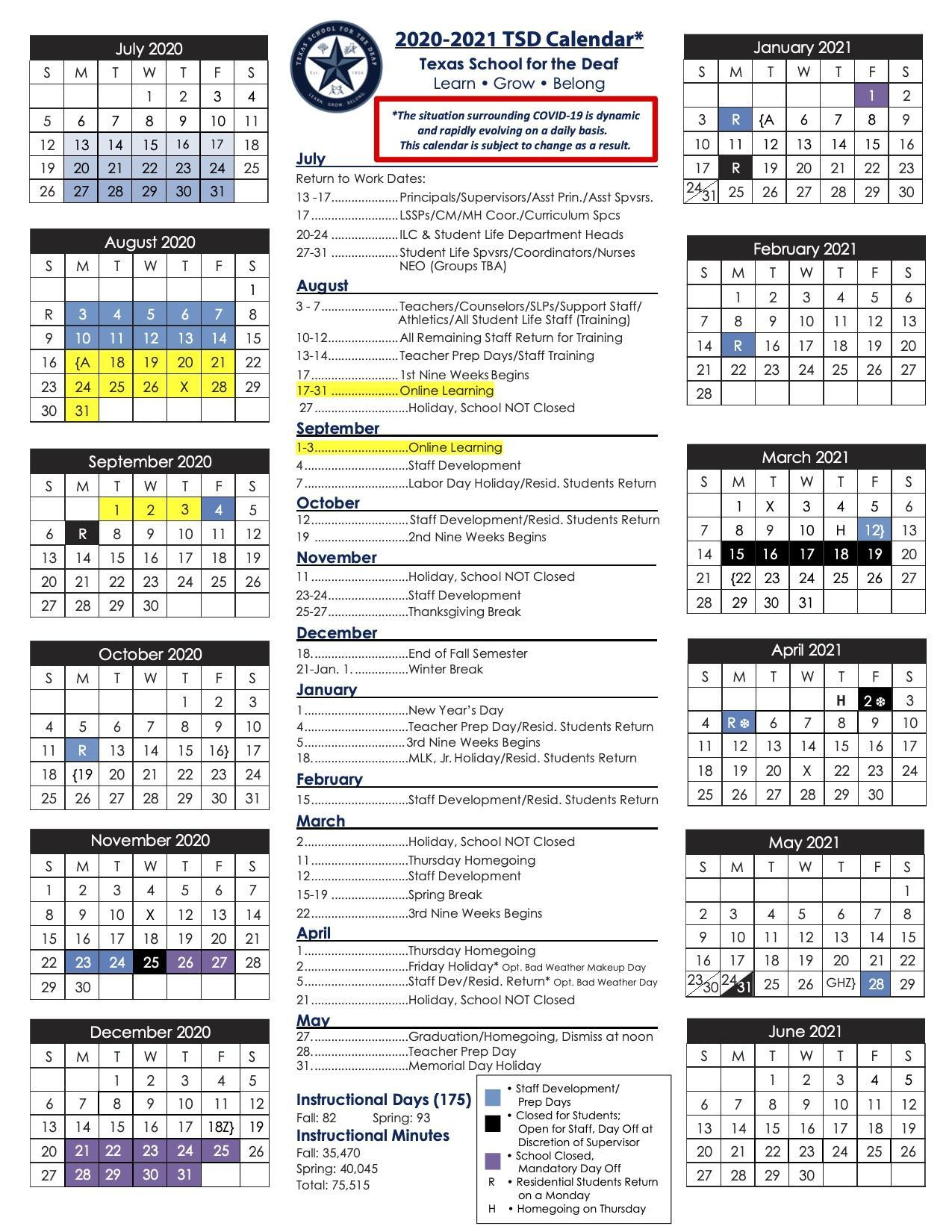 Tsd Calendar 2021 | Calendar 2021 In Boise State University Calendar 2021