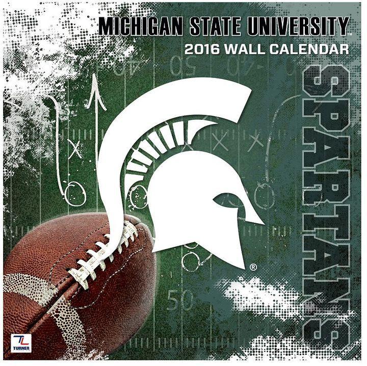 "Turner Michigan State Spartans 2016 12"" X 12"" Wall Pertaining To Michigan State University Academic Calendar"