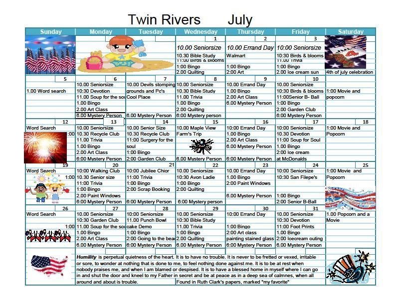 Twinriverssenior | Senior Living Activities, Senior Pertaining To Individual Activity Calendars For Senior Citizens