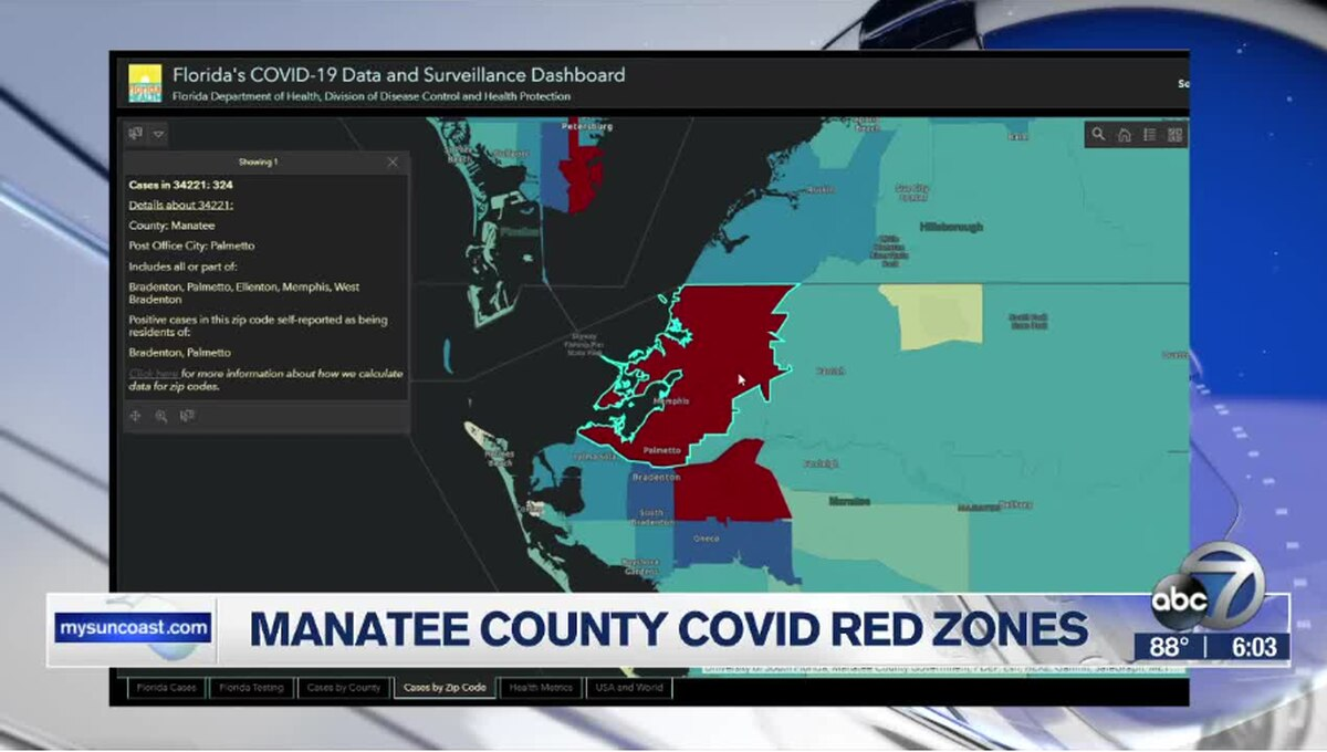 Two Manatee County Zip Codes Are Now Red Zones Within Deshutes County Traffic Court Schedule