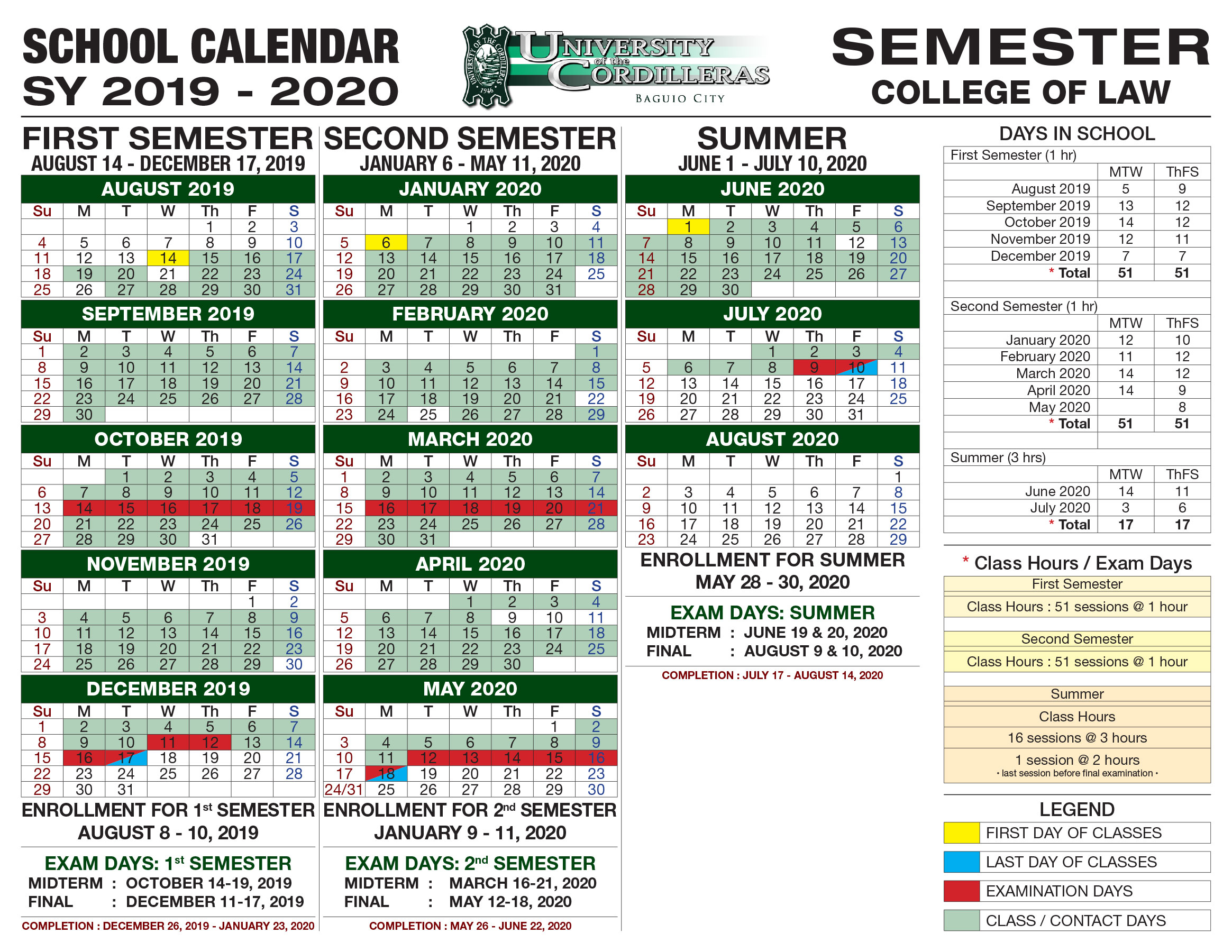Uc School Calendar For Sy 2019 2020 - University Of The Within Academic Year University Of Rhode Calendar