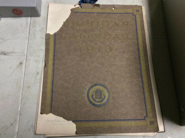 University Michigan Calendar 1913 Vintage | Ebay intended for Michigan State University Academic Calendar