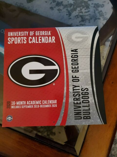 University Of Georgia Football Calendar 2020 | Ebay Throughout Georgia State University Calendar 2020