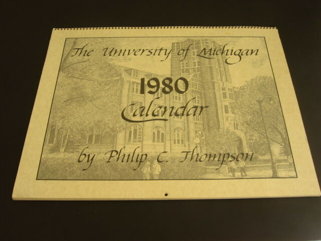 University Of Michigan Calendar 1980 Campus Etchings Pertaining To Michigan State University Academic Calendar