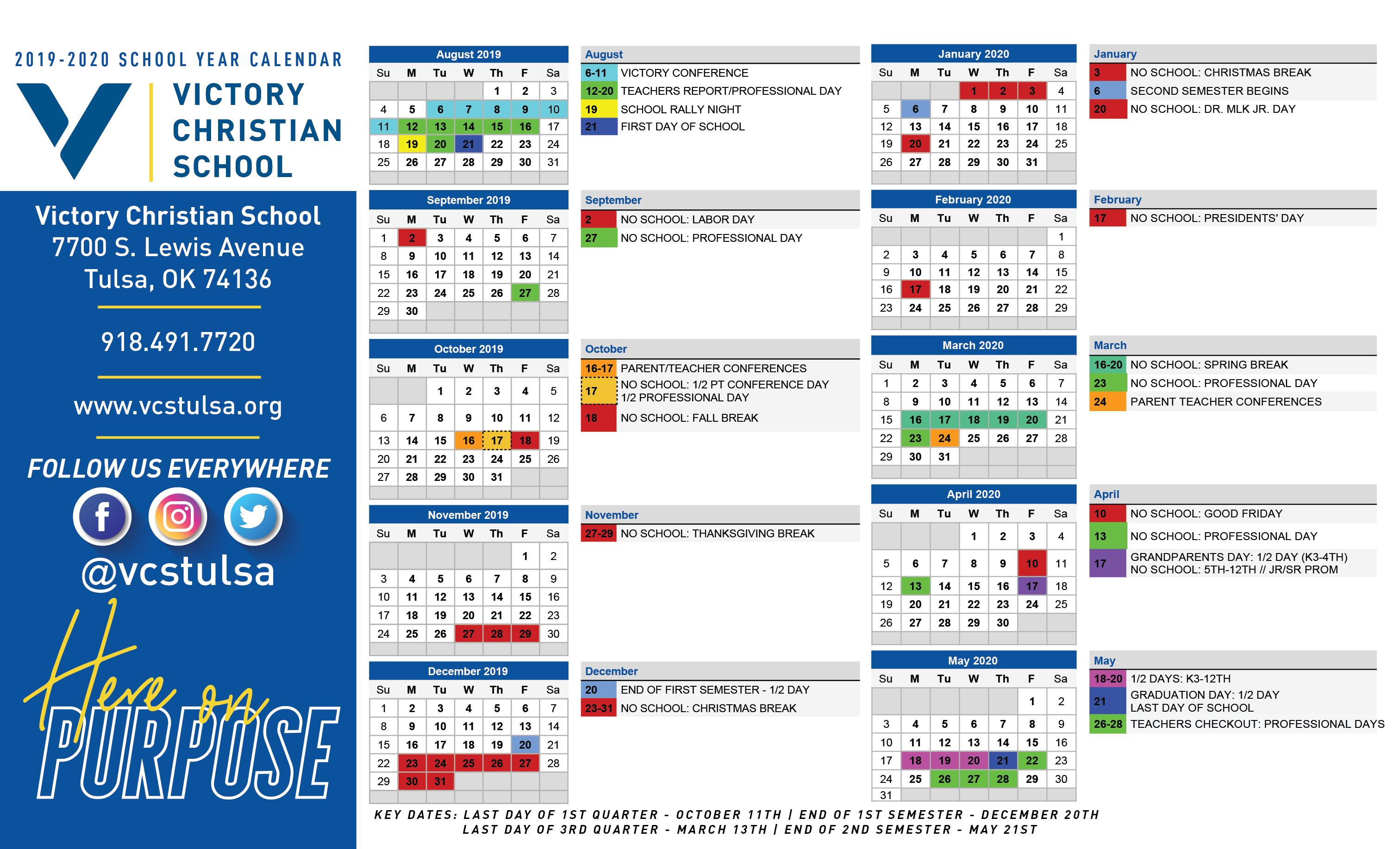 University Of Tulsa 2021 Calendar   Printable Calendar Intended For University Of Ri Academic Calendar 2021 2020