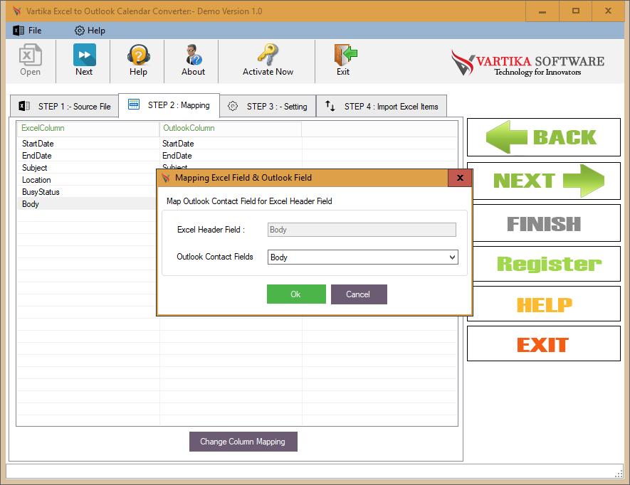 Vartika Software  Use Excel To Outlook Converter Software Intended For Convert Excel Sheet To Calendar
