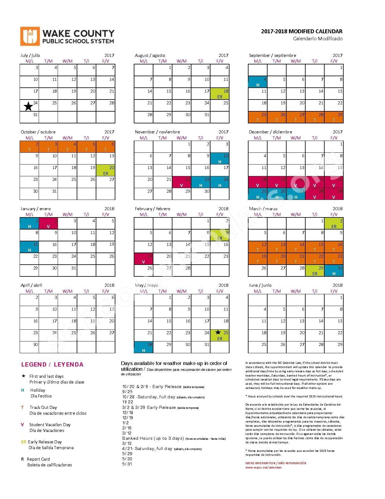 Wake County School Calendar 2020 | Free Printable Calendar Intended For Wake County Schools Calendar