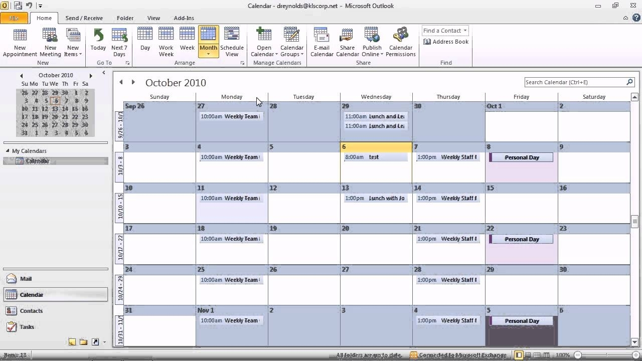 Year Calendar View In Outlook | Ten Free Printable With Create Shared Calendar In Outlook 2021