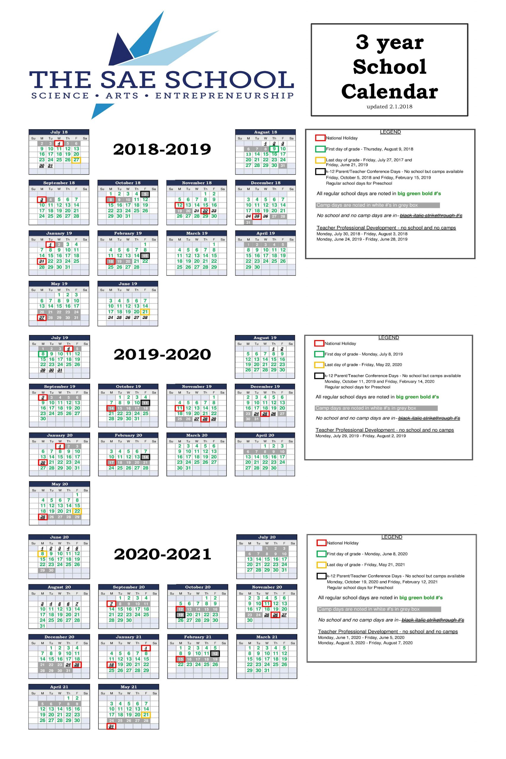 Year-Round School Calendar - The Sae School In Mableton Ga within What Is A Sample Year Round School Schedule
