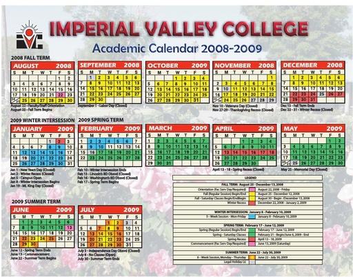 Academic Calendars - Courses & Programs - Imperial Valley Regarding Academic Calendar For Delaware State