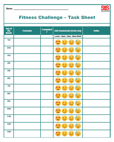 August Printable Fitness Challenge Calendar   Workout In Fitness Calendar For Kids May 2021