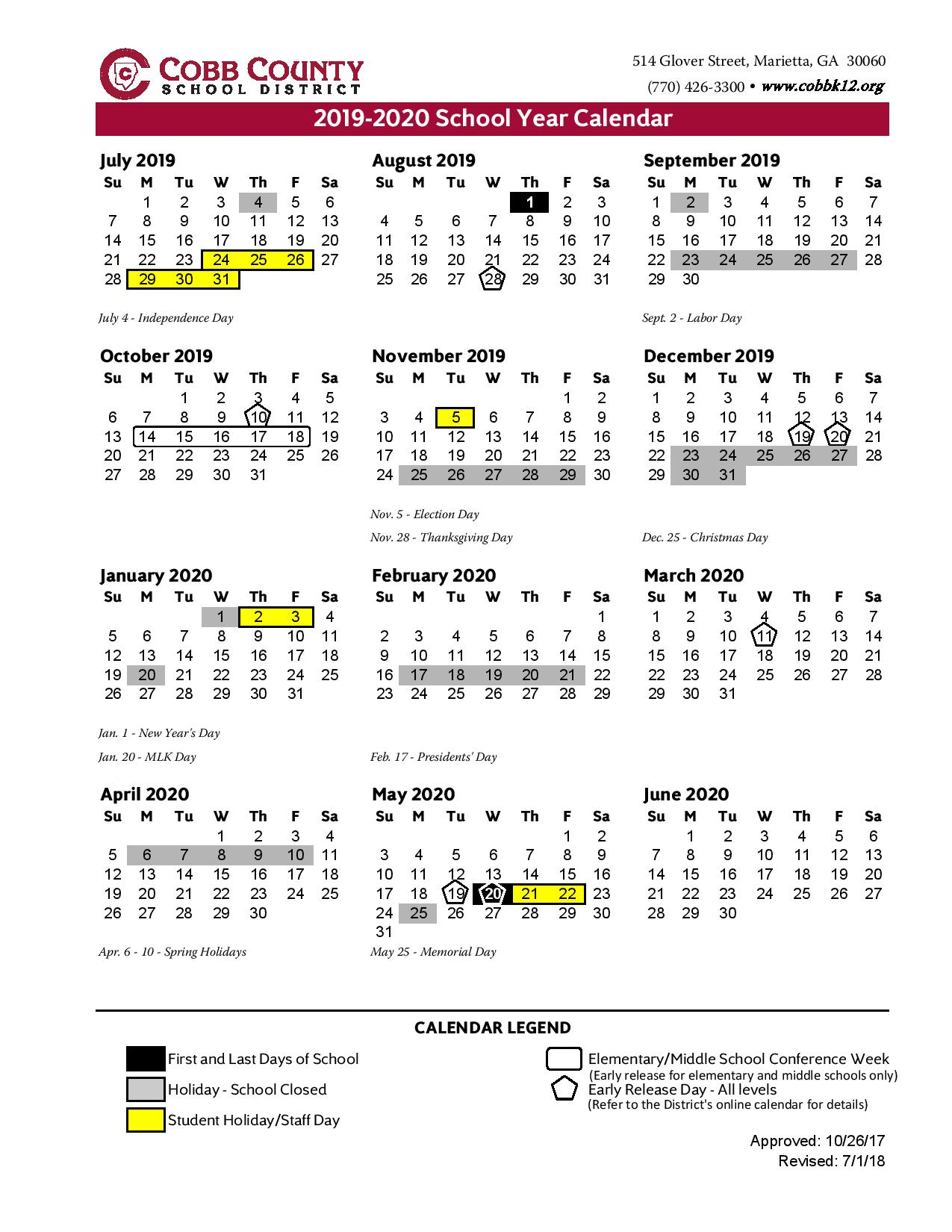 Ccsd School Calendar With Holidays Free Intended For Year Round School Calendar Sample