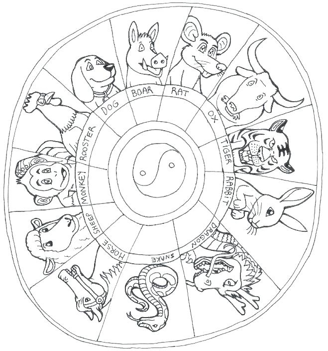 Chinese Zodiac Coloring Pages At Getcolorings   Free Regarding Free Printable Chinese Zodiac
