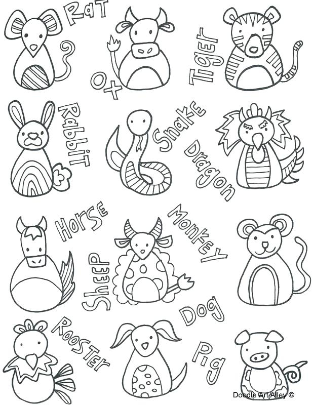 Chinese Zodiac Coloring Pages At Getcolorings   Free Within Free Printable Chinese Zodiac