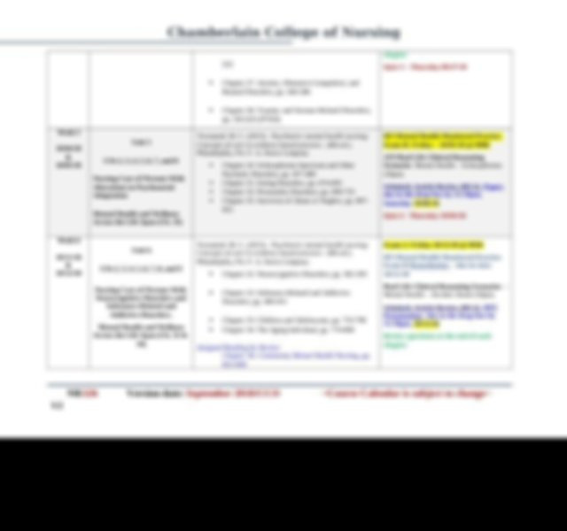 Course Calendar Nr326 Rev 082118 V 3.Docx - Chamberlain With Chamberlain University Academic Calendar