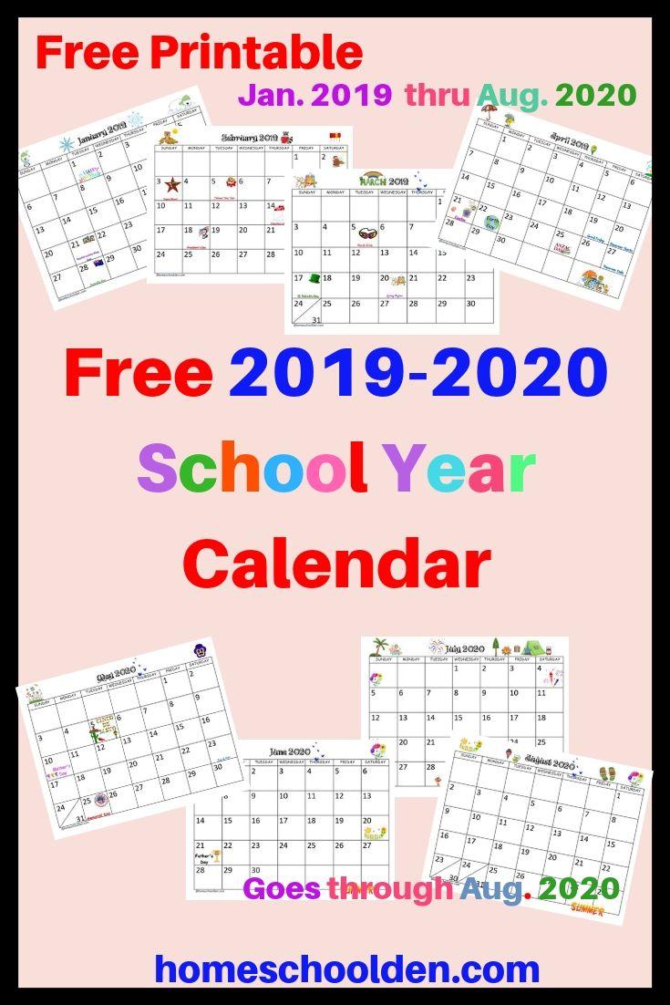 Free Printable 2020 Attendance Calendar   Example Calendar Intended For Year Round School Calendar Sample