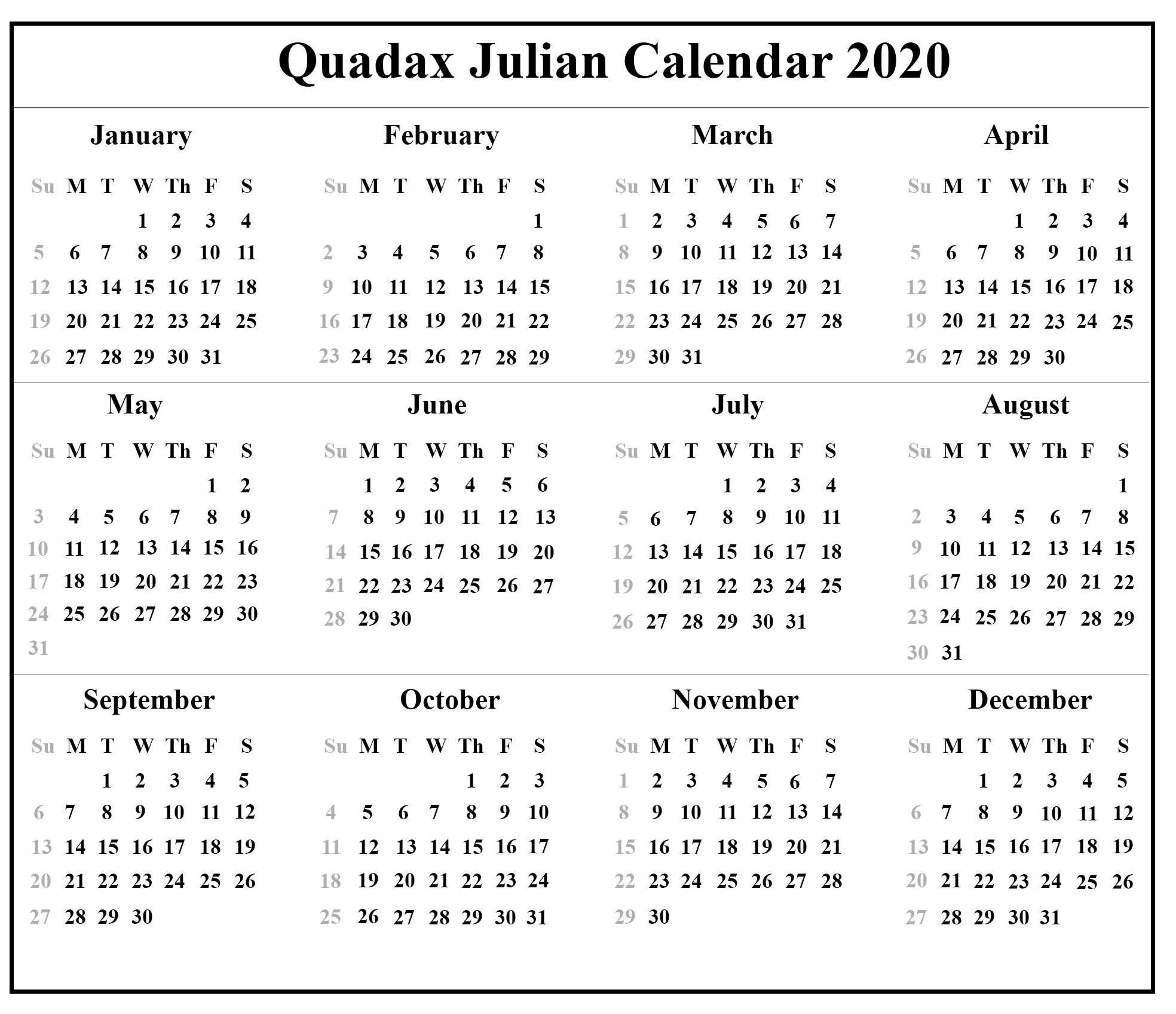 Julian Date Calendar Leap Year Pdf | Calendar For Planning Regarding Printable Julian Date Calendar Leap Year