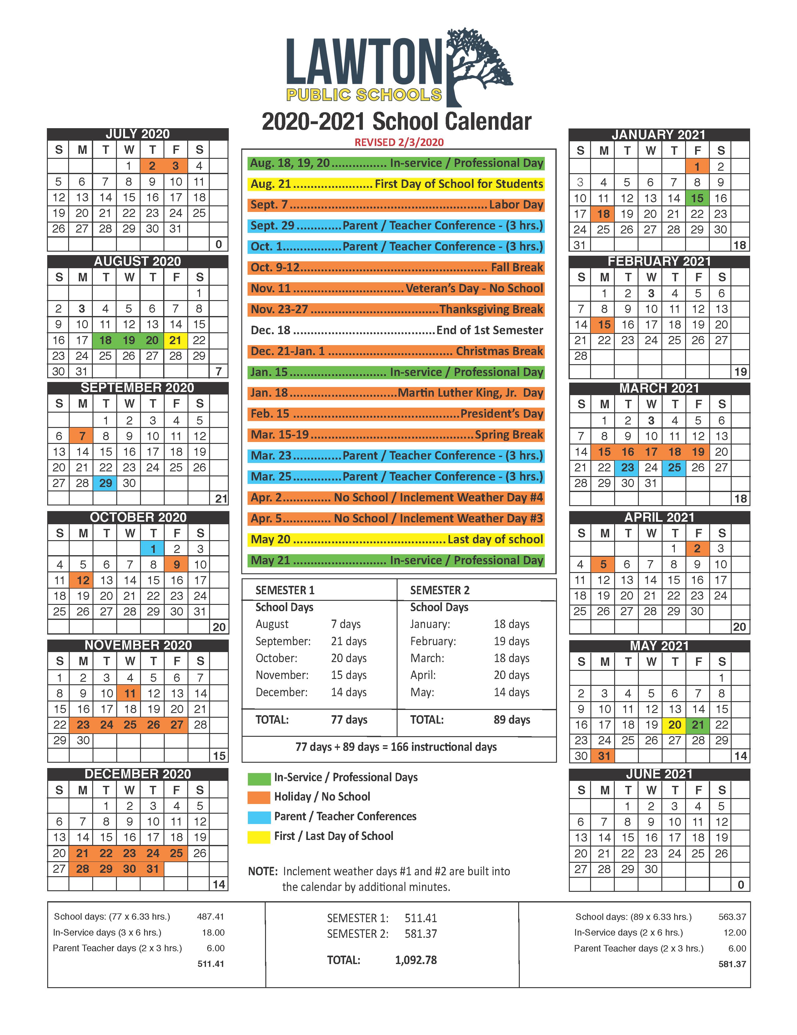 West Hills High School Calendar   Printable Calendar 2020 2021 Regarding Year Round School Calendar Sample