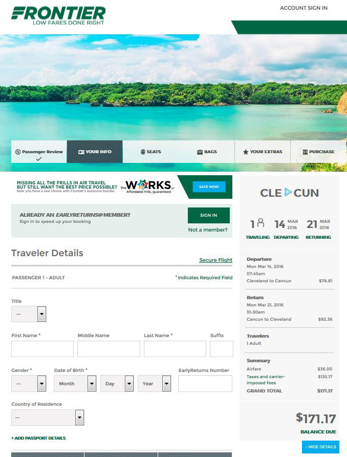 $182-$237 -- Cancun From Cleveland & Chicago (R/T) | Fly regarding Frontier Airlines Deals Calendar