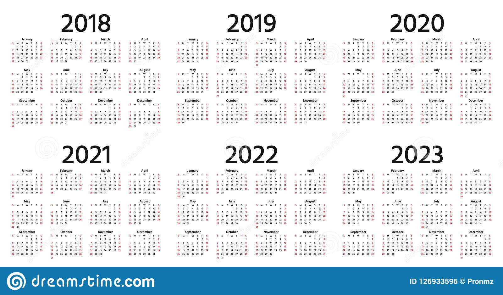 2018, 2019, 2020 Calendar. Vector Illustration. Template Pertaining To 4 5 4 Retail Calendar 2019 2022