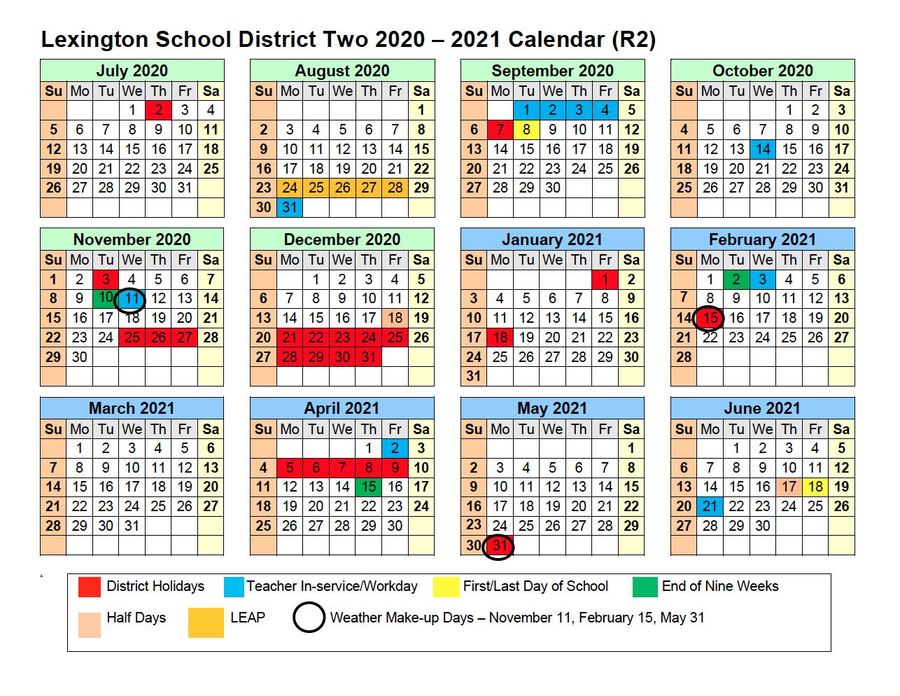 2020 - 2021 Calendar - Calendar - Lexington School with Wilkes-Barre Area School District Calander 2021