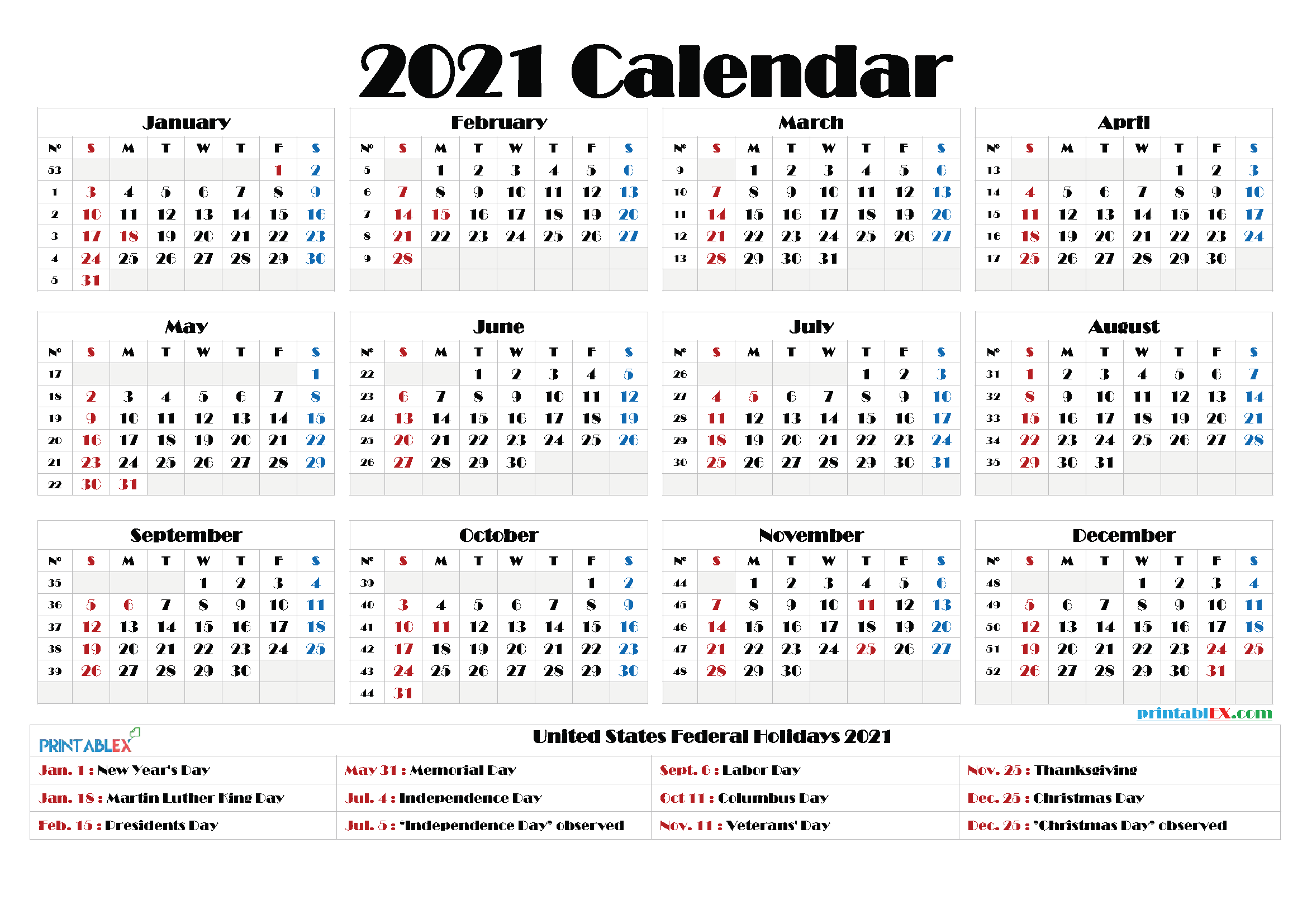2021 Broadway Calendar   Calendar Page In Every Day Is A Holiday Calendar 2021 Printable