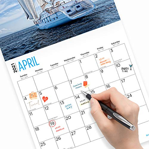 2021 Sailing Wall Calendarbright Day, 12 X 12 Inch Intended For Full Sail 2021 Calendar