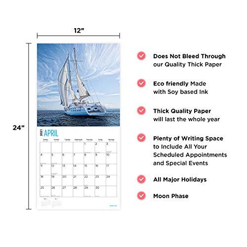2021 Sailing Wall Calendarbright Day, 12 X 12 Inch Regarding Full Sail 2021 Calendar