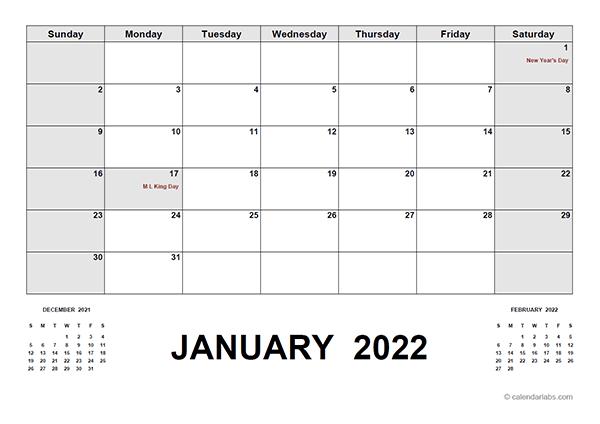 2022 Calendar With Holidays Pdf - Free Printable Templates Within Julian Calendar 2022