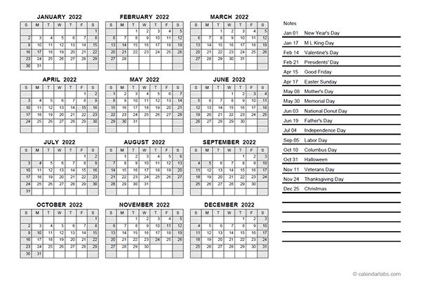 2022 Yearly Calendar Pdf - Free Printable Templates Within Julian Calendar 2022