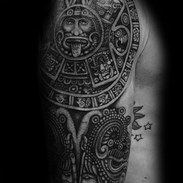 40 Mayan Calendar Tattoo Designs For Men - Tzolkin Ink Ideas Throughout 60 Calendar Days Back From Today