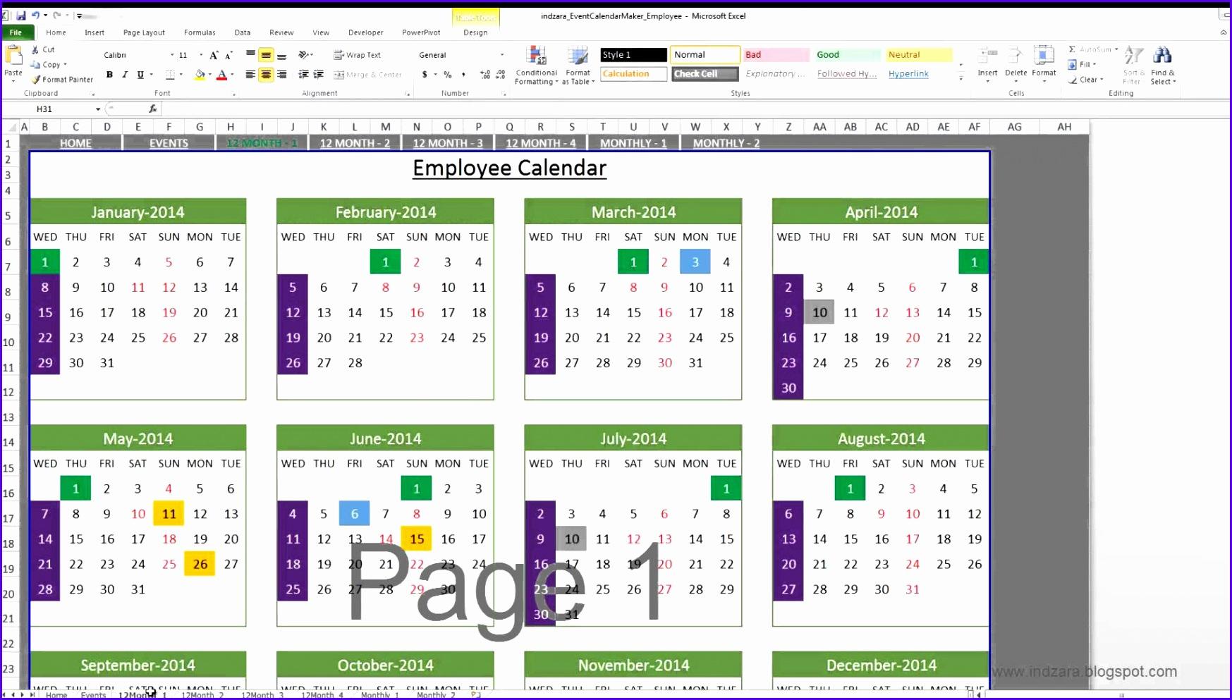 5 Excel 2007 Calendar Template - Excel Templates - Excel Inside Convert Excel Into Word Calendar