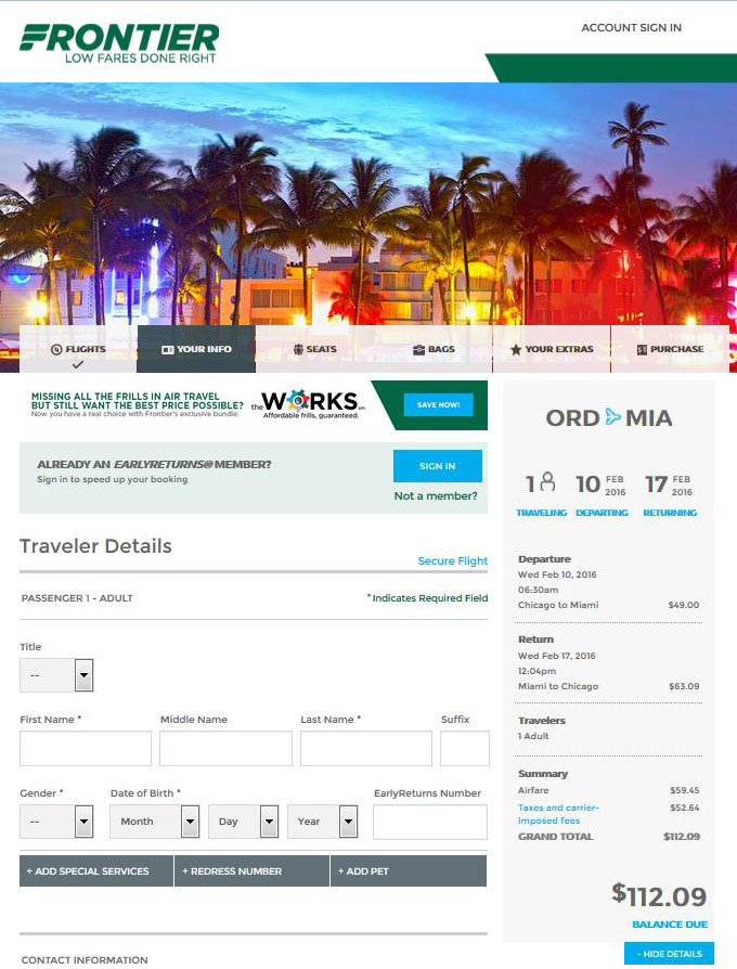 $58 $113 — Chicago To Orlando, New Orleans & Miami Intended For Frontier Airlines Deals Calendar