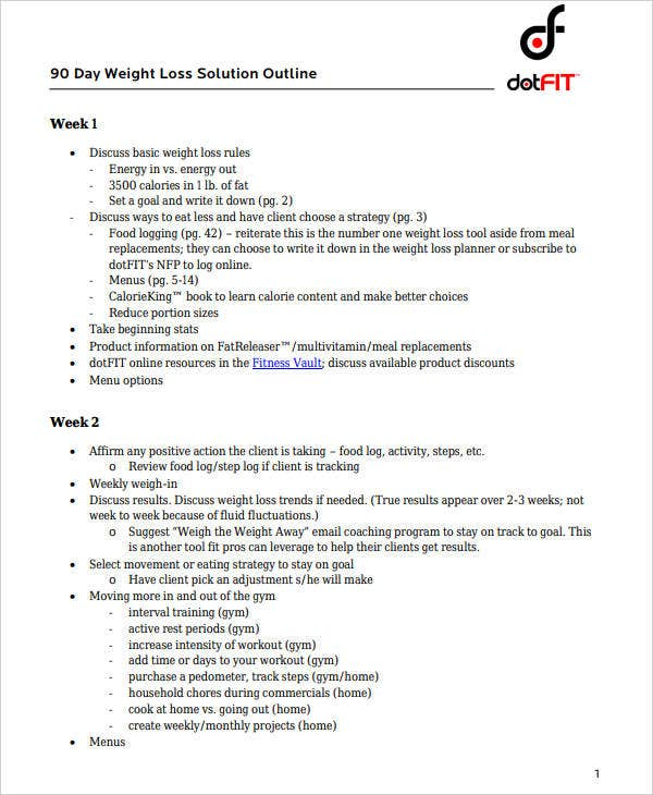 9+ 90 Day Workout Plan Templates - Pdf, Word   Free Intended For 90 Day Calendar Pdf
