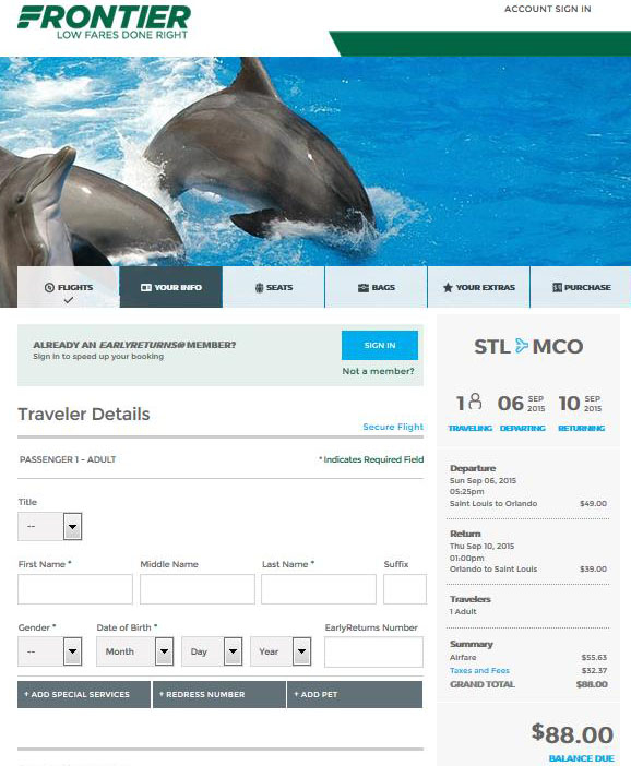 $98 $118    St. Louis To Orlando & Las Vegas Nonstop (R/T Inside Frontier Airlines Deals Calendar