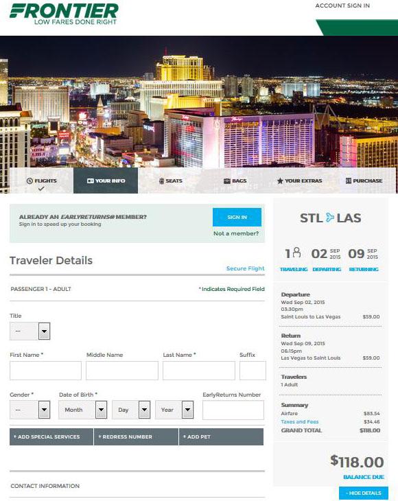 $98 $118 — St. Louis To Orlando & Las Vegas Nonstop (R/T Throughout Frontier Airlines Deals Calendar