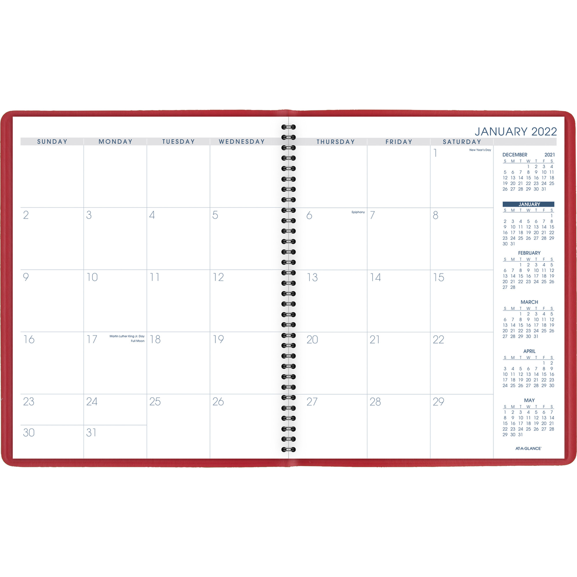 Aag7025013 – At A Glance Fashion Color Monthly Planner With Regard To Julian Date Calendar For 2022