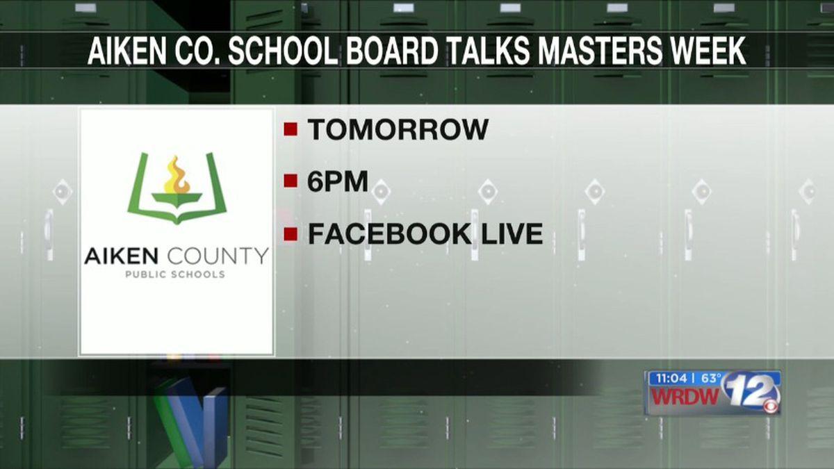 Aiken County School Board To Discuss Masters Week In Next within Aiken County School Calendat