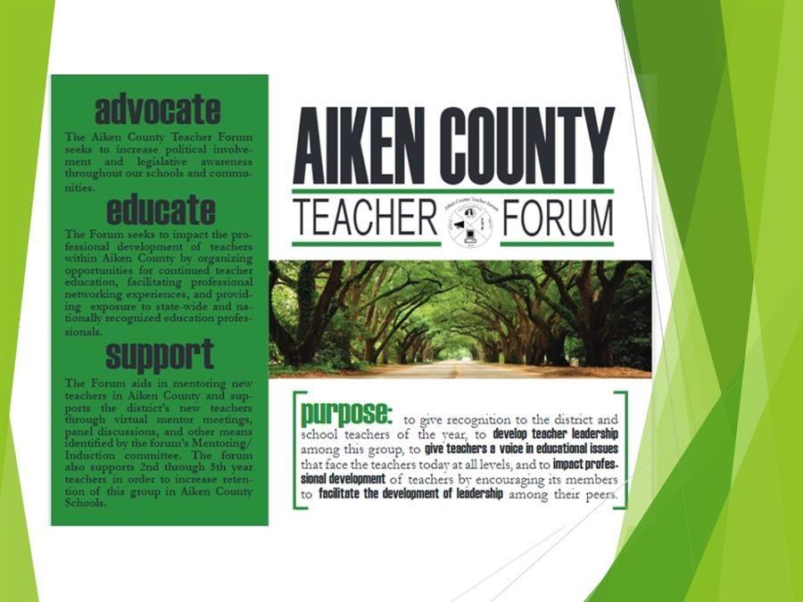 Aiken County Teacher Forum / Teacher Forum Regarding Aiken County Public School Website Calendar