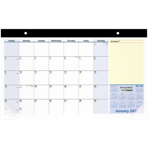 At A Glance Quicknotes Monthly Desk Pad | Kennedy Office Within Julian Date Calendar 2022