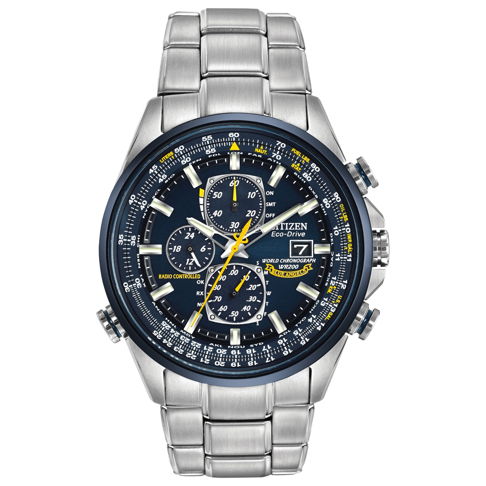 At8020 54L Citizen Watch Blue Angels World Chronograph A T Pertaining To Citizen Wr100 Chronograph Manual