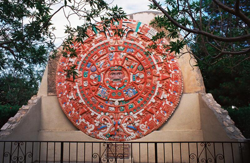 Aztec Calendar Painted - Digie Throughout Mexican Calendar Names