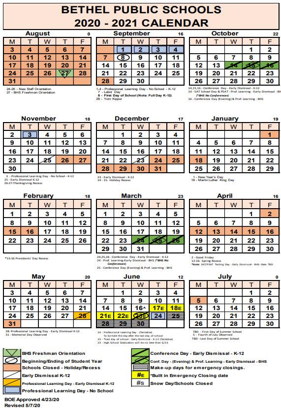 Bethel Public Schools Calendar 2021 2022 | Lunar Calendar With Regard To Garnet Valley School Calendar 2022