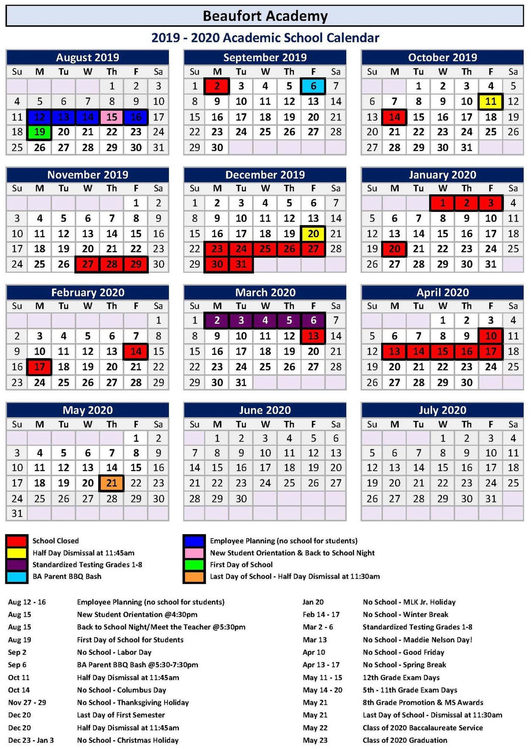 Calendar 2021 For Hilton Head Sc   Printable Calendar 2020 Within Fort Worth Isd Calendar 2021